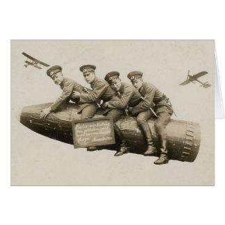 Cartão soldados do vintage do 1920 engraçados