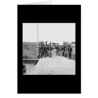 Cartão Soldados na porta do forte Slemmer 1865