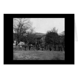 Cartão Soldados pelo tribunal 1865 de Appomattox