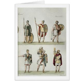 Cartão Soldados romanos, detalhe da placa 2, classe 5 de