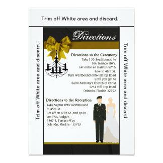 Cartão solenóide uniforme da noiva do noivo do EXÉRCITO