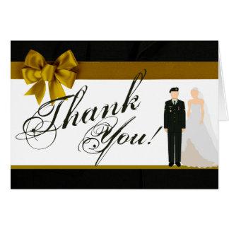 Cartão Solenóide uniforme dobrado da noiva do noivo do