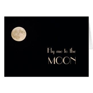 Cartão Solidão da lua