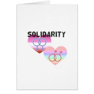 Cartão Solidariedade alegre lésbica