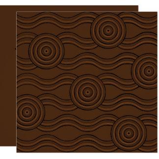 Cartão Solo aborígene da arte