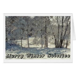 Cartão Solstício de inverno alegre