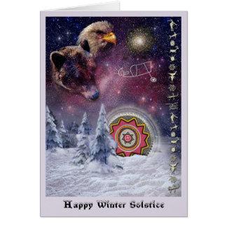 Cartão Solstício de inverno de Chumash