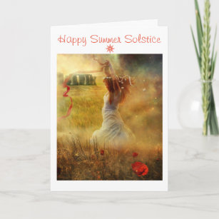 Cartão Solstício de verão feliz