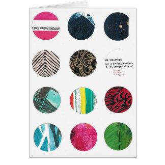 Cartão Solstício e rosa de doze círculos