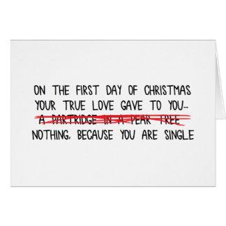 Cartão Solteiro nos feriados