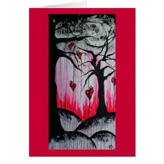 Cartão solto da arte de Orig das árvores do