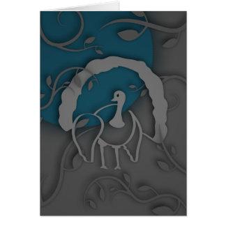 Cartão Sombra Turquia Noir pela lua