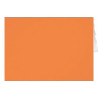 Cartão Somente fundo bonito alaranjado do sólido OSCB46