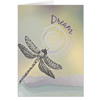 Cartão Sonhando a libélula