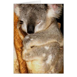 Cartão Sonhando o Koala