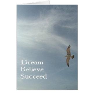 Cartão Sonhe, acredite, suceda