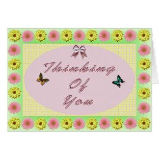 Cartão Sonhos da borboleta