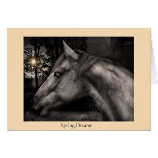 Cartão Sonhos do primavera