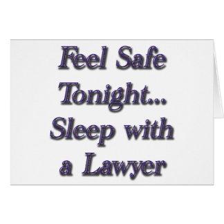 Cartão sono com um advogado