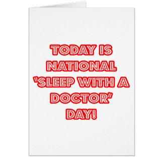"""Cartão """"Sono nacional com um doutor"""" dia"""