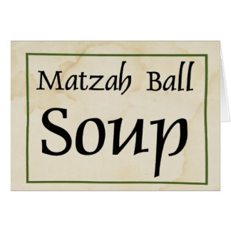 Cartão Sopa da bola do Matzah