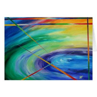 Cartão Sopa da vida - arte abstracta