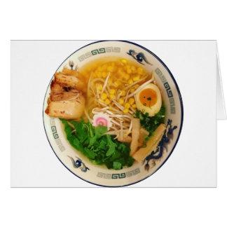 Cartão Sopa de macarronete dos Ramen da carne de porco