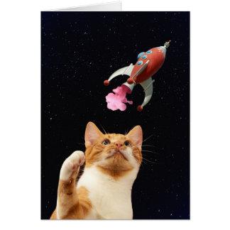 Cartão Sopre fora o gatinho!