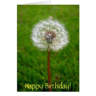 Cartão Sopro do dente-de-leão, feliz aniversario!