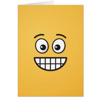 Cartão Sorrindo a cara com olhos abertos