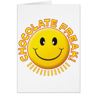 Cartão Sorriso arrepiante do chocolate