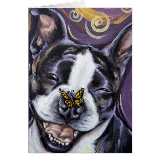 Cartão Sorriso de Boston Terrier