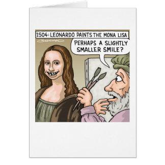 Cartão Sorriso de Mona Lisa