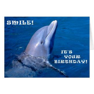 Cartão Sorriso do aniversário do golfinho