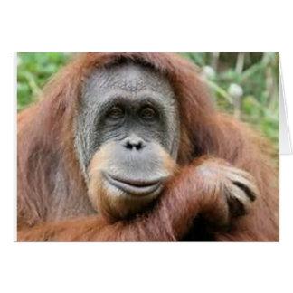 Cartão Sorriso do orangotango