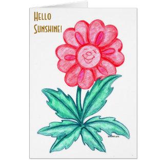 Cartão Sorriso e pensamento de você