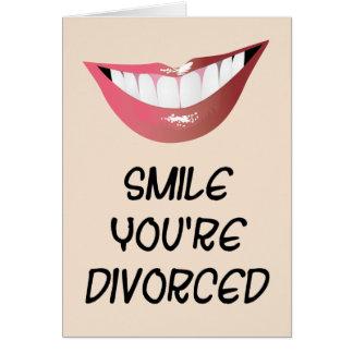 Cartão Sorriso você é divorciado