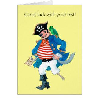 Cartão Sorte do pirata e do papagaio do divertimento boa