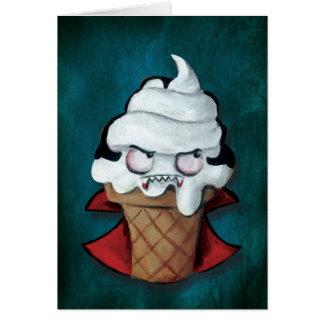 Cartão Sorvete bonito doce do vampiro