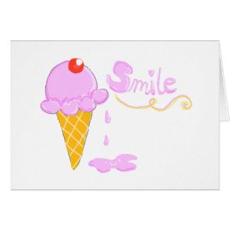Cartão Sorvete do sorriso