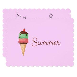 Cartão Sorvete do verão