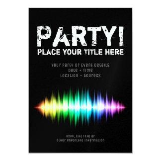 Cartão Soundwave festa convite, Flyer 1/