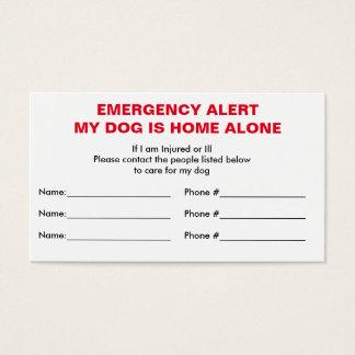 Cartão sozinho Home do contato da emergência do
