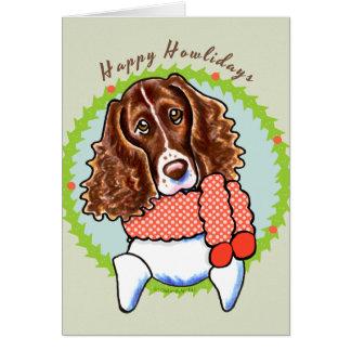 Cartão Spaniel de Springer Howlidays feliz