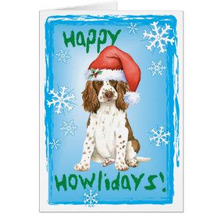 Cartão Spaniel feliz de Howliday Springer inglês