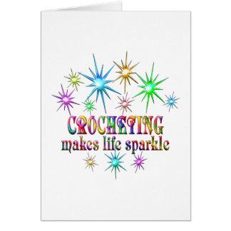 Cartão Sparkles Crocheting