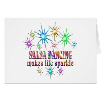 Cartão Sparkles da dança da salsa