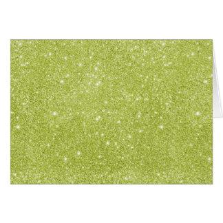 Cartão Sparkles do brilho do verde limão