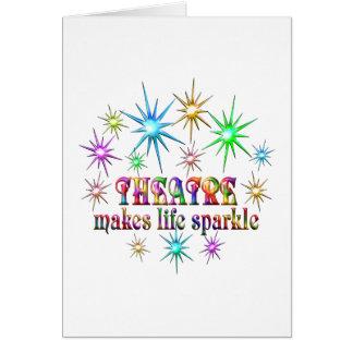 Cartão Sparkles do teatro