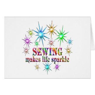 Cartão Sparkles Sewing